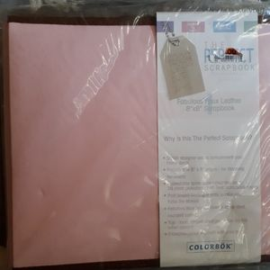 NWT Pink Faux Leather Scrapbook